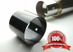 4 Add On Universal Carbon Fiber Cover Tip For Catback Axle Muffler Hks Tanabe