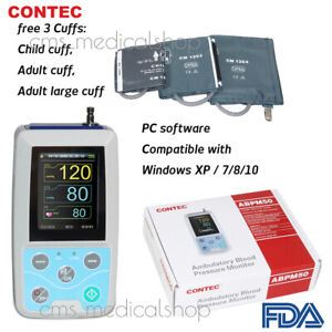 Contec Ambulatory Blood Pressure Monitor software 24h Nibp Holter 3 Cuffs us