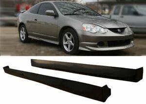 02 04 Acura Rsx Dc5 Type R Style Side Skirts Skirt Black Abs Pair Unpainted