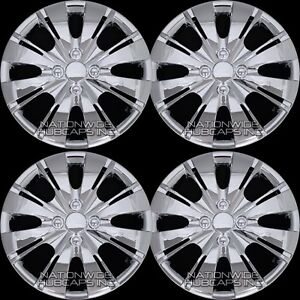 4 Chrome 2006 18 Toyota Yaris 15 Hub Caps Wheel Rim Covers Snap On 4 Bolt Hubs