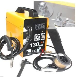 120amp 220v Flux Core Auto Feed Mig 130 Welding Machine Spool Wire Fan Welder