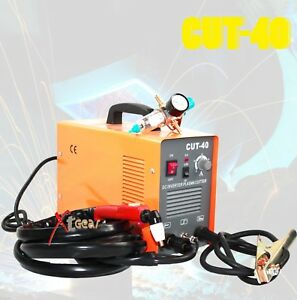 Cut 40 Dc Inverter Plasma 220v 40amp Welding Machine Welder Regulator Gauge