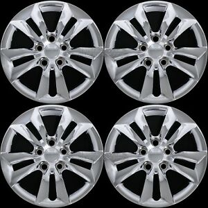 4 Chrome Fit Hyundai Sonata 2006 2014 Gls 16 Bolt On Hub Caps Rim Wheel Covers