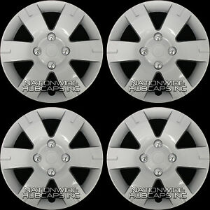 Fits 03 12 Nissan Sentra 15 Wheel Covers Full Rim Hub Caps Snap On 4 Lug Bolt