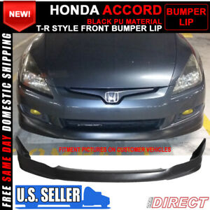For 03 05 Honda Accord 4dr Sedan Hfp Style Front Bumper Lip Splitter