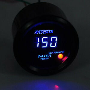 New Universal 2 52mm Blue Digital Led Water Temp Temperature Gauge Us Stock