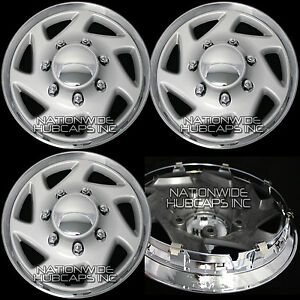 Set Of 4 Ford E150 Econoline Van 15 Hub Caps 5 Lug Wheel Rim Covers Center Hubs