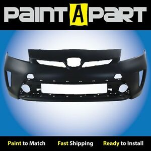 Fits 2012 2013 2014 Toyota Prius W O Led Front Bumper Cover Premium Painted