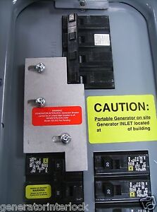 Sd h200a Square D Generator Interlock Kit 150 200 Amp Homeline Panel Listed