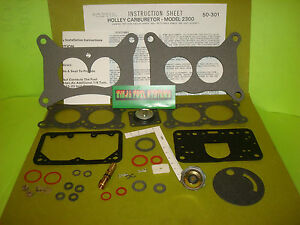 Carburetor Rebuild Kit Holley 2bbl 2300 2300c Amc Ford Ihc Jeep Mercury See List
