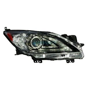 New Right Hid Head Lamp Lens And Housing Fits 2010 2013 Mazda 3 Ma2519149