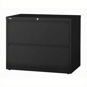 Hirsh Hl10000 Series 30 2 Drawer Lateral File Cabinet In Black