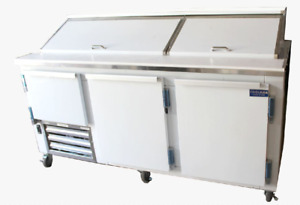 Commercial 84 Salad Sandwich Refrigerator Prep Table Cooler