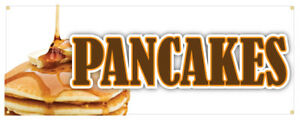 Pancakes Banner Breakfast Restaurant Business Sign 24x72