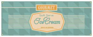 Soft Serve Ice Cream 03 Banner Ice Cream Cold Concession Stand Sign 24x72