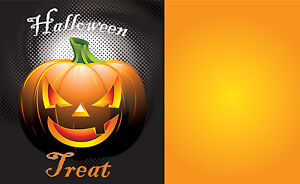 Halloween 11 x7 Retail Store Signs blank Template Tags 50 Pack