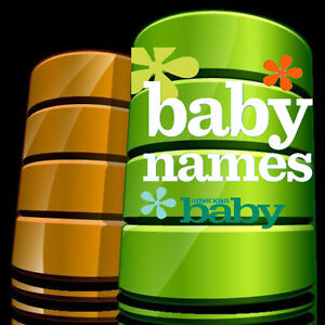 85000 Baby Names Database Only Database Available On The Internet