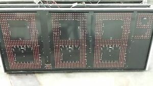 Electronic Led Red 9ft X 24in Price Sign Panels W Controller Set Of 4