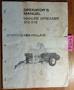 New Holland 512 518 Manure Spreader Owner s Operator s Manual 42051223 2 75