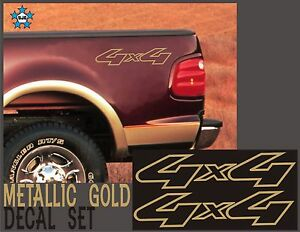 4x4 Truck Bed Decals Gold Set For Ford F 150 Super Duty And Ranger