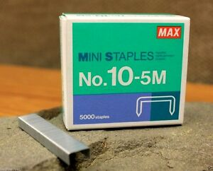 Max Staple Mini 5000 10 5m Staples Coin Holder For Clinch Stapler Hd10 Series