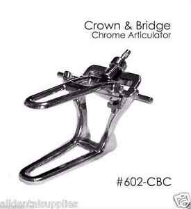 Dental Chrome Articulator Crown And Bridge 6 Sets Meta Dental 602 Cbc