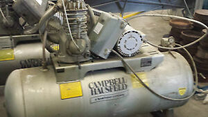 Air Compressor Campbell Hausfeld 5 Hp 220v 3 Phase Heavy Duty Low Hours