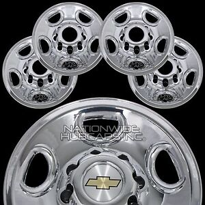 4 Chrome Express Van 16 8 Lug Wheel Skins Hub Caps Rim Simulators Center Covers