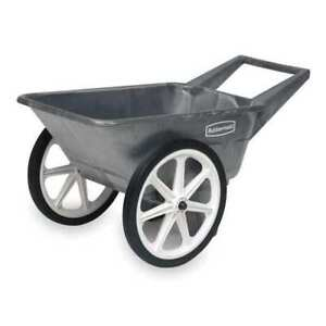 Big Wheel Cart hd 1 8 Cu Yd 200 Lb Rubbermaid Fg565461bla