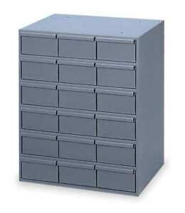 Drawer Bin Cabinet 11 5 8 In D gray Durham 006 95