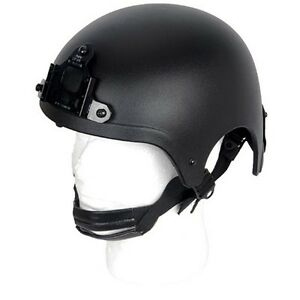 Lancer Tactical CA-331B Airsoft IBH Helmet SOCOM NAVY Replica wNVG Shroud Black