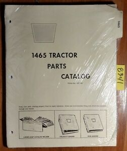 Wfe White Cockshutt Oliver 1465 Tractor Parts Catalog Manual 433 166 2 73