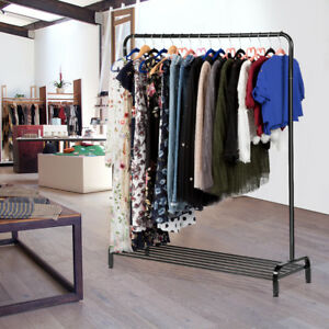 All metal Free Standing Commercial Grade Clothing Garment Rack W storage Shelf
