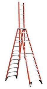 12 Fiberglass 300 Lb Trestle Extension Ladder Type Ia Werner E7412