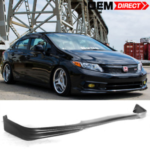 Fit For 12 Honda Civic Md Style Front Bumper Lip Unpainted Pu