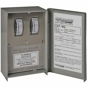 Reliance Controls 30 amp Indoor Wattage Meter