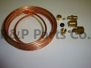 Oil Pressure Gauge Line Kit Copper Tubing 1 8 X 6 Car Truck Tractor Equipment