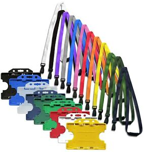 Double Sided Id Card Badge Holder Id Soft Neck Lanyard Strap J clip Free P p