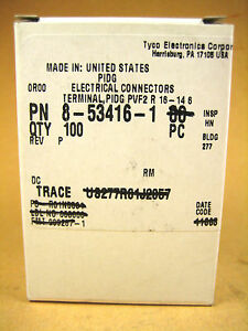 Tyco Electronics 8 53416 1 Electrical Connector 100pc Ring 6 Stud 16 14 Awg