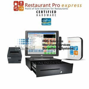 Pcamerica Rpe All in one Restaurant bar Pos System Hp Pos 3gb Ram Core 2 Duo Cpu