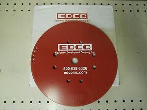 Edco 19160 Turbo Grinder Accessory Red General Purpose Disc