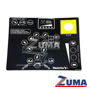 Haulotte A 00713 d New Haulotte Bil jax Upper Control Box Touchpad Decal