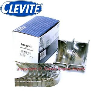 New Set Of Clevite H Series Standard Size Main Bearings 396 402 427 454 Chevy Bb