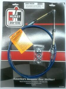 Hurst 5000029 5ft Shifter Cable W Double Eyelet Ends For Quarter Stick