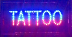Led Business Proffessional Tattoo Studio Shop Sign on offswitch Open Light Neon