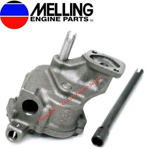 New Melling M77 Stock Oil Pump Is77 Shaft 1965 1976 Chevy Bb 396 402 427 454