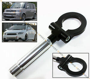 Black Jdm Billet Folding Ring Screw On Bumper Tow Hook For Scion Xb Tc Xa Xd Iq