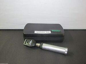Welch Allyn 3 5v Coaxial Ophthalmoscope Head With Custom Handle 11770 Free Ship