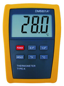 Digital Thermometer Lcd With K type Thermocouple Sensor Science Project Dm6801