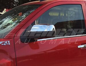 Clip on Replacement Chrome Mirror Covers Shells For Chevy Silverado Gmc Sierra